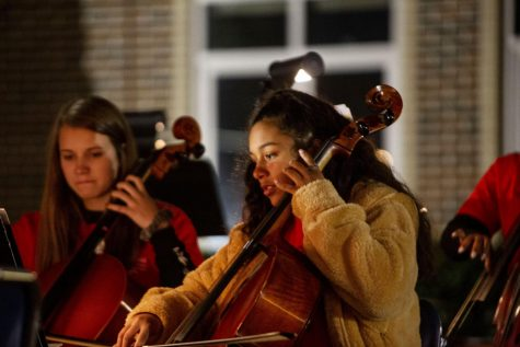 A photo of the orchestra from their fall concert, Concert Under the Stars