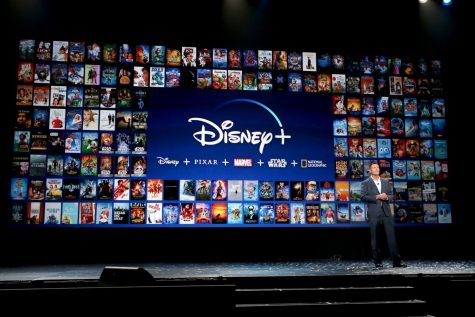 Image shot at Disney+ reveal conference