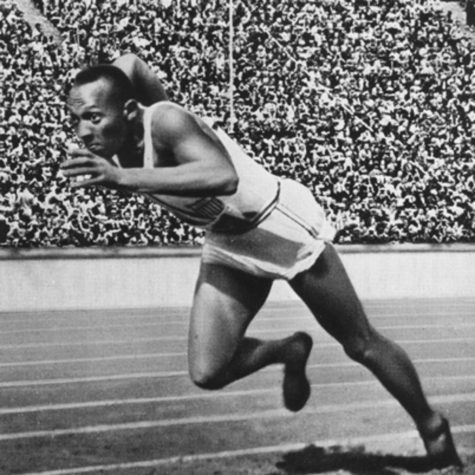 Olympic sprinter Jesse Owens did not have the benefit of starting blocks in 1936