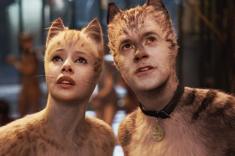 "A shot from ""Cats"" featuring Francesca Hayward as Victoria(left) and Bluey Robinson as Alonzo(right)"