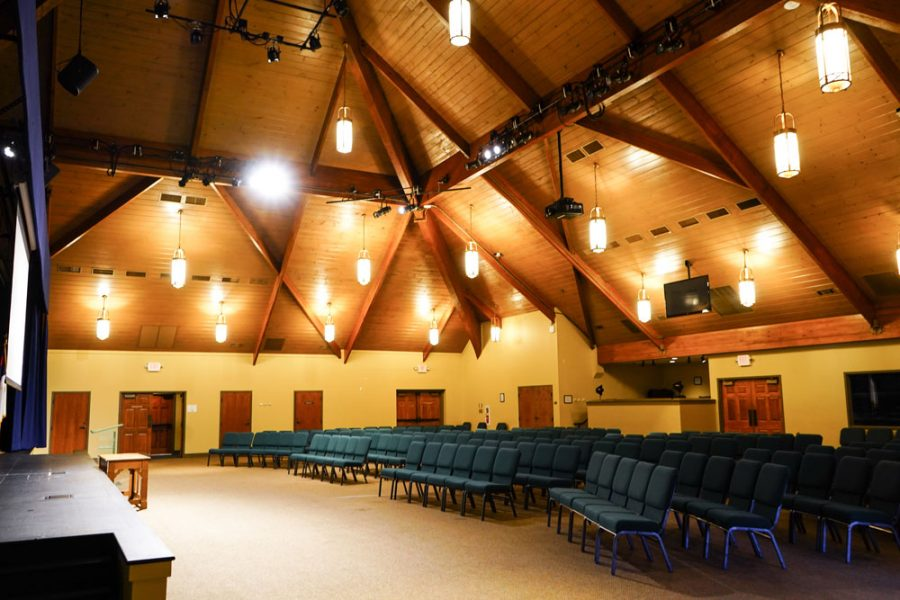 South Hall, 300-seat theater used for performances on South Campus