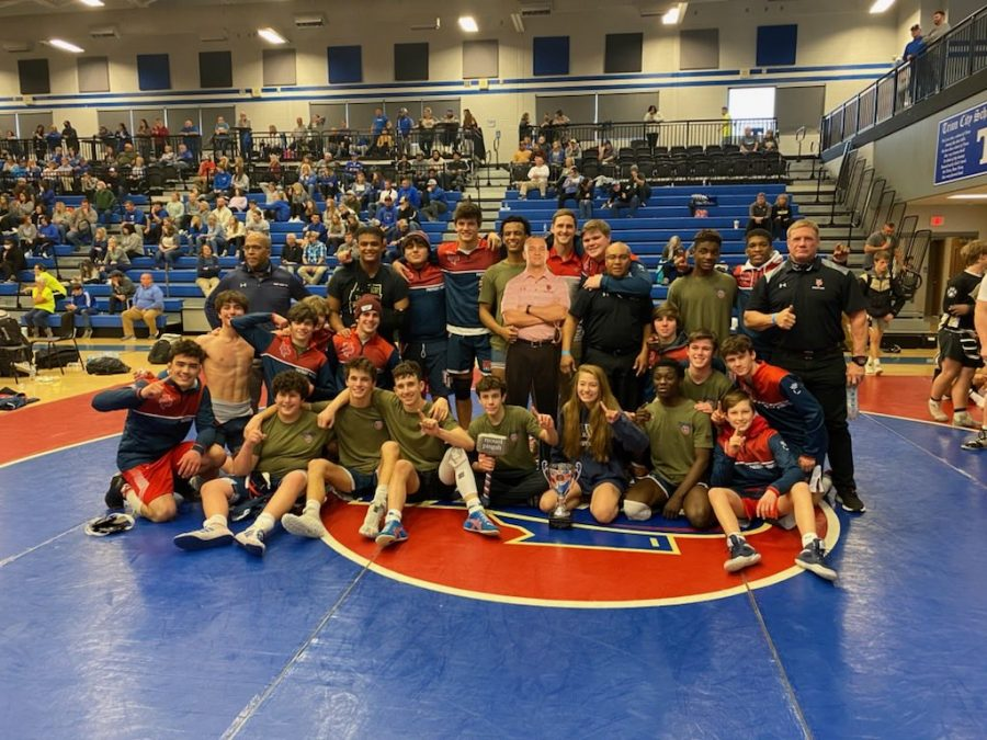 The Mount Pisgah wrestling team defeated Commerce 48-27 in the state duals championship, claiming their first team state championship title