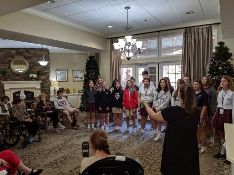 Tri-M sings for local senior citizens